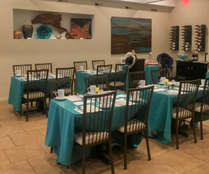 Enjoy an intimate, peaceful dining experience atSimply Delicious restaurant
